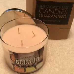 NWT Bath & Body Works Gelato 3 wick candle 🍧